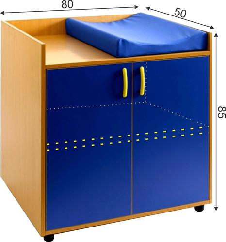 mueble para guarderia kinder mobiliario bebe cambiador