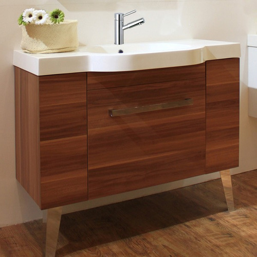 Muebles Para Baño Con Ovalin:Mueble Sevilla 100 (cerezo) Con Ovalin Y Espejo Baño – $ 10,88200 en