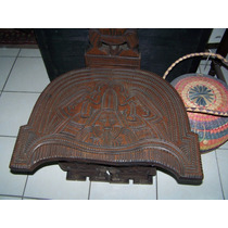 Silla Tipo Prehispanica Labrada Traida De Sudamerica