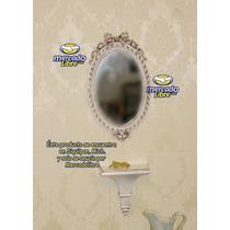 Repisa Y Espejo Renovados Al Estilo Shabby Chic, Luis Xv