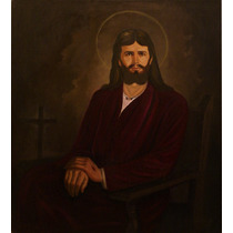 Oleo Sobre Tela, Cristo Resucitado Arte Sacro