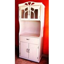 Mueble Portamicroondas Color Blanco