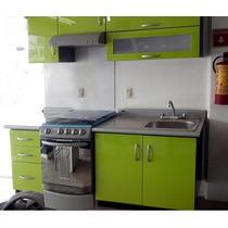 Cocina Integral Minimalista 2.10m Gabinete Alacena Cubierta