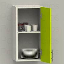Gabinete Alacena Vertica Despensero 60cm Blanco Verde Cocina