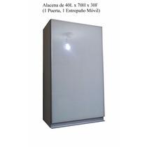 Alacena De 40l X 70h X 30f (1 Puerta Abatible Con Cristal)