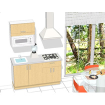 Cocina Integral 1.50 Mtrs Equipo Haceb + Campana Tulum