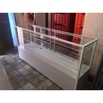 Vitrina Exhibidora Madera Vidrios Exhibicion