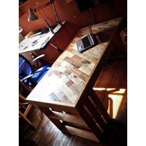 Mesa Escritorio Con Panel Multimadera (reciclada)
