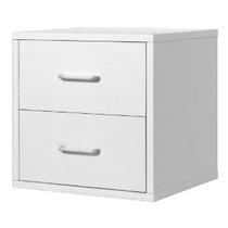 Foremost 327.401 Modular 2 Gavetas Cubo System Storage Blanc