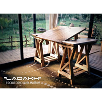 Escritorio Ladakh 100% De Madera Reciclada (inclinable)