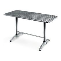 Mesa Rectangular De Aluminio Cubierta De Inoxidable Yb-517