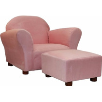 Sillón Silla Fantasy Furniture Ottoman Rosa Para Niñas