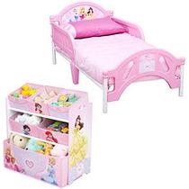 Cama Y Juguetero Infantil Para Niña Princesas