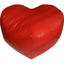 Puff Corazon San Valentin Rojo