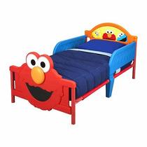 Cama Camita Infantil 3d Niño Plaza Sesamo Elmo