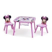 Disney Minnie Mouse Mesa Y Sillas Conjunto Delta Niños Almac