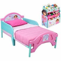 Cama Camita Infantil Con Organizador De Dora