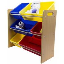 Juguetero Organizador Infantil Para Recamara Sala 6 Cajones