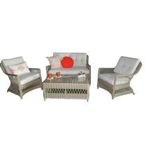 Sala Rattan Para Exterior, Jardin, Terraza, Sofa, Mesa