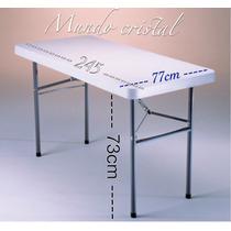 Mesa De Plastico Plegable 245cm Leon Gto