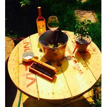 Mesa Para Jardín De Carrete Reciclado