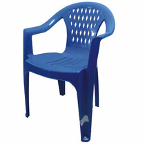 Silla De Plastico Berlin Económica Azul