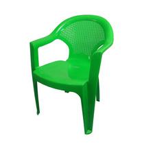 Silla De Plastico Damasco Verde