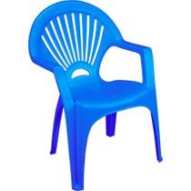 Silla De Plastico Baja Venecia Azul