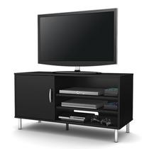 Mueble Tv Y Multimedia Moderno Color Negro Pc9ng