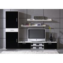 Mueble Lari Centro De Tv De 1.90 De Largo Con Librero