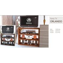 Porta Pantalla Lcd Led Smart Plasma Orlando Chocolate Tabaco