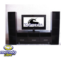 Mueble Para Television, Plasma, 3b, Comoda, Librero, Sala