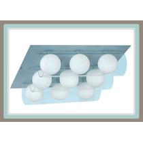 Línea Para Baño - Lámpara Moderna, 9 Esferas