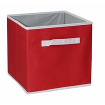 Cesto Para Ropa Caja Organizadora Cenefa Rojo Grande Dicsa