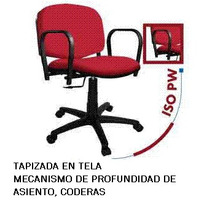 Silla Secretarial Iso Pw Coderas Altura Regulable