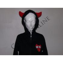 Sudadera Diablo Cuernos Goth Punk Dark Cosplay Anime Catnip