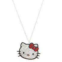 Hot Topic Collar Hello Kitty Bling Head Necklace