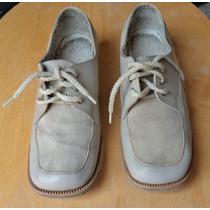 Zapatos Para Boliche Color Beige Retro No. 22!!! Z27