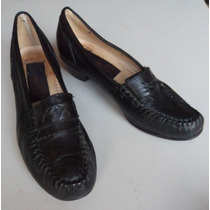 Allegro Zapatos Mocasines Negros No 22.5 Z30