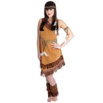 Disfraz Indio - Señoras Squaw Pocahontas Vestido De Lujo -