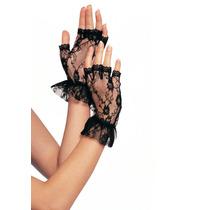 Guantes Gloves Leg Avenue Encaje Negro Gotico Gotham