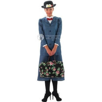 Mary Poppins Traje - Ladies Small Size 8-10 Cine Tv