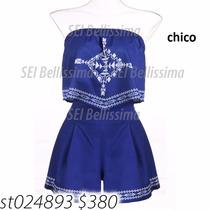 Hermoso Jumpsuit De Short Moda Asiatica