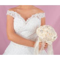 Ramo Para Novia O Xv Años - Rosas Con Incrustaciones Bouquet