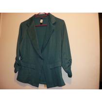 Saco Verde De Vestir Moderno Y Muy Economico (mod46)