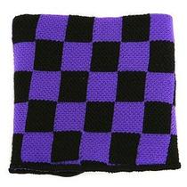Hot Topic Muñequera Purple And Black Checkered Reversible