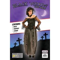 Negro Traje De Viuda - Adulto Mujeres Vestido Largo De Hallo