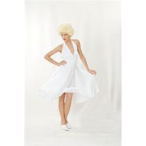 Traje De Marilyn Monroe - 50's Hollwood Vestido Blanco F