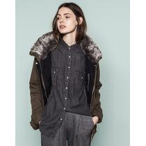 Camisa Pull And Bear Mezclilla Nueva Etiquetas Zara Bershka