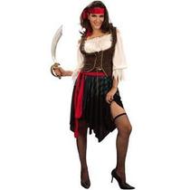 Traje Pirata - Xl Señoras Caribe Moza Del Vestido De Lujo
